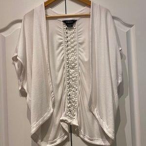 MICHEL Studio Short-Sleeve Cardigan in Size 3X